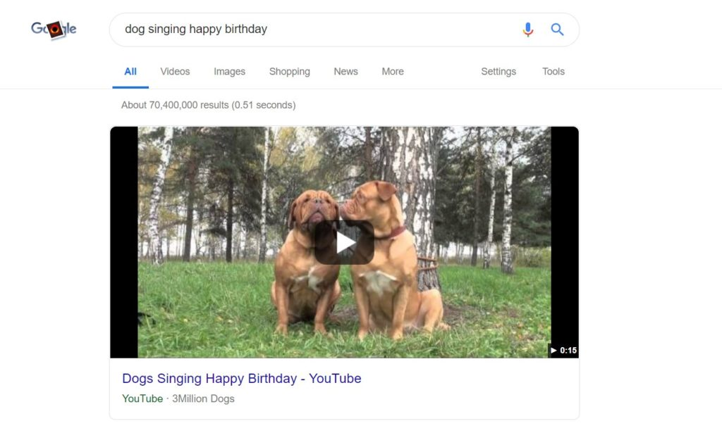 google featured snippet youtube