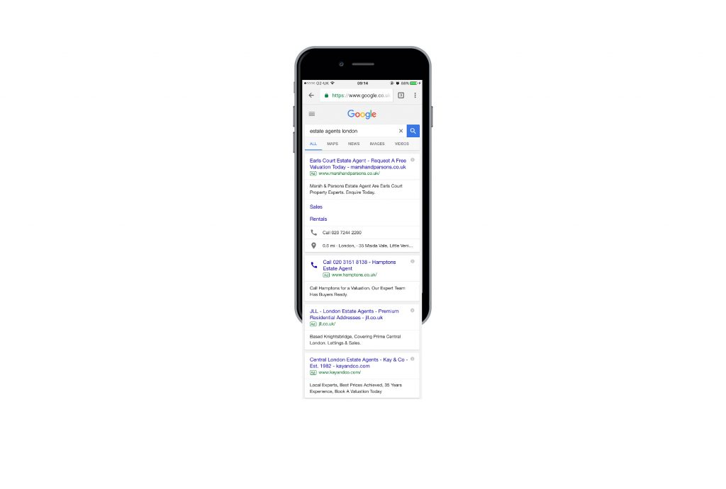 Extended mobile SERP