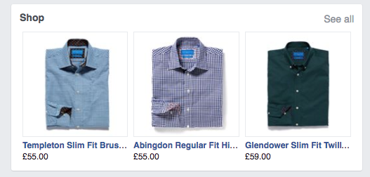 good facebook ad for clothes