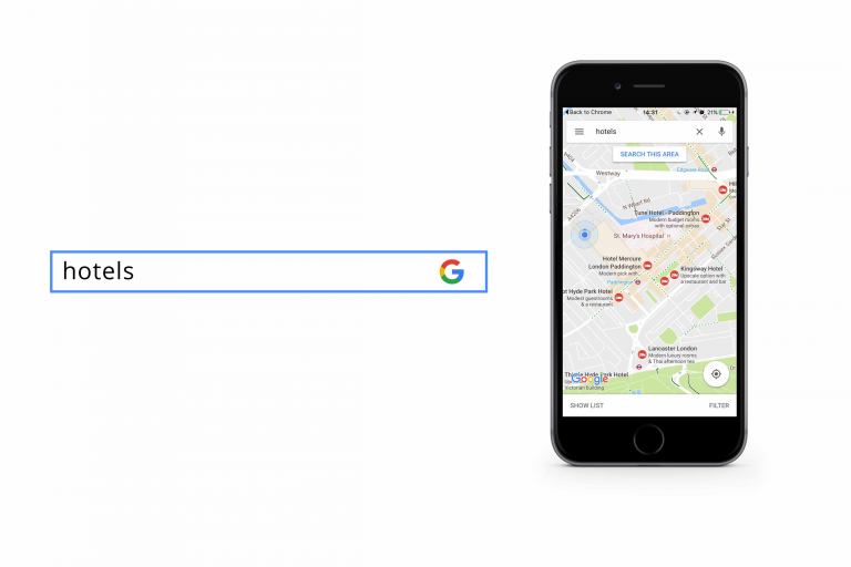 example of a google maps local search