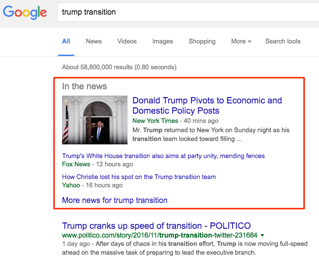 Screenshot of a Google Mistakes