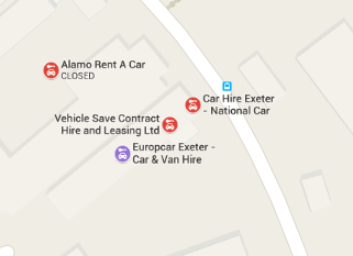 Google maps ads for car hire
