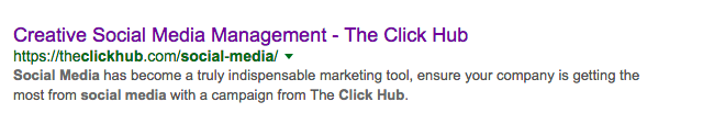 SEO mistakes example - google screenshot