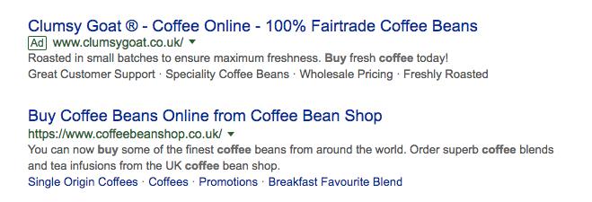 screenshot of new google ads