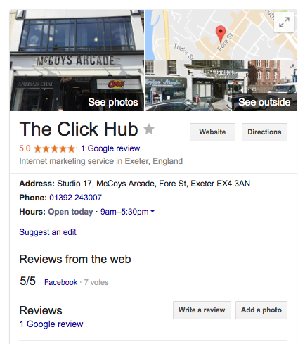 example of google maps local search