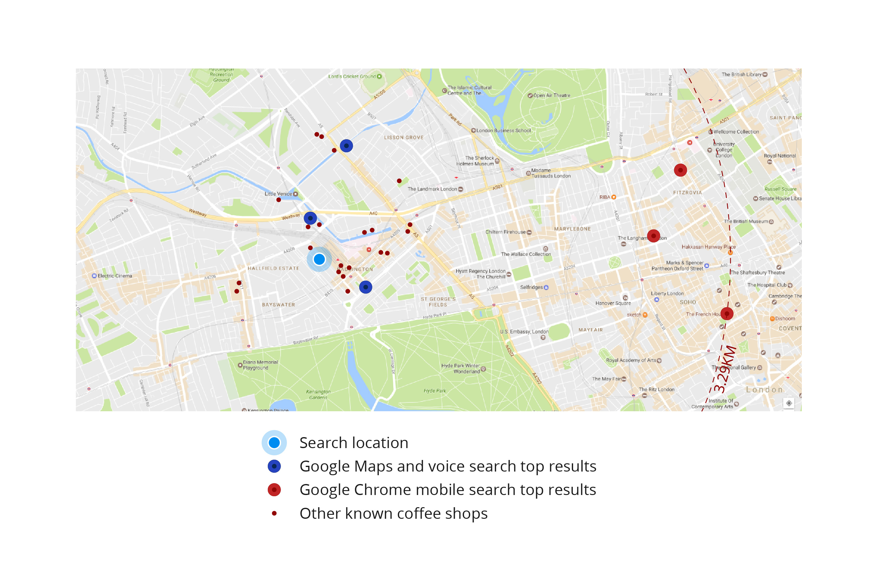 how to search intersections on google maps